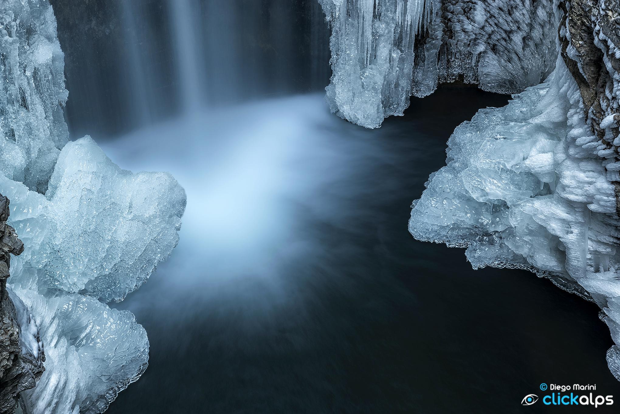 La cascata del Lago Smeraldo