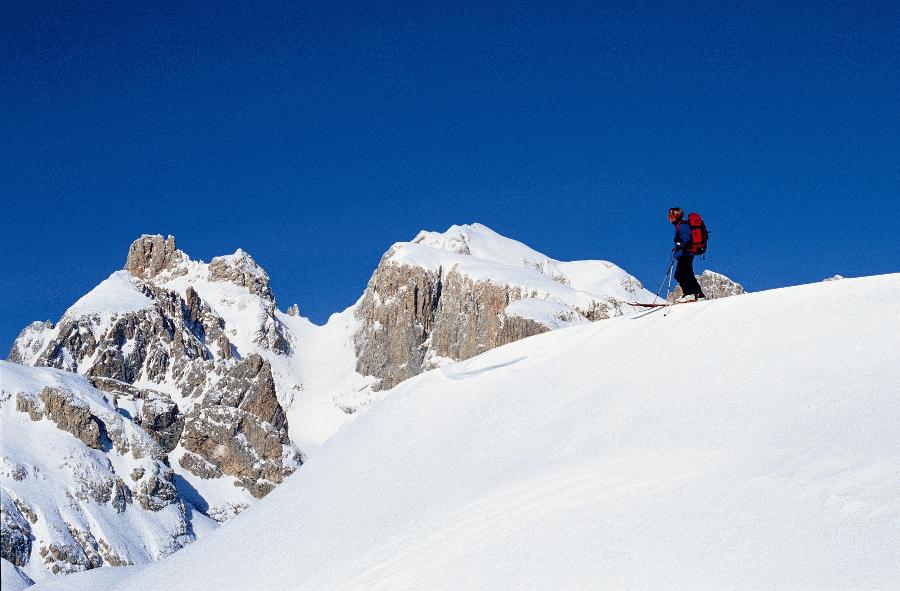 Sci alpinismo sulle Dolomiti