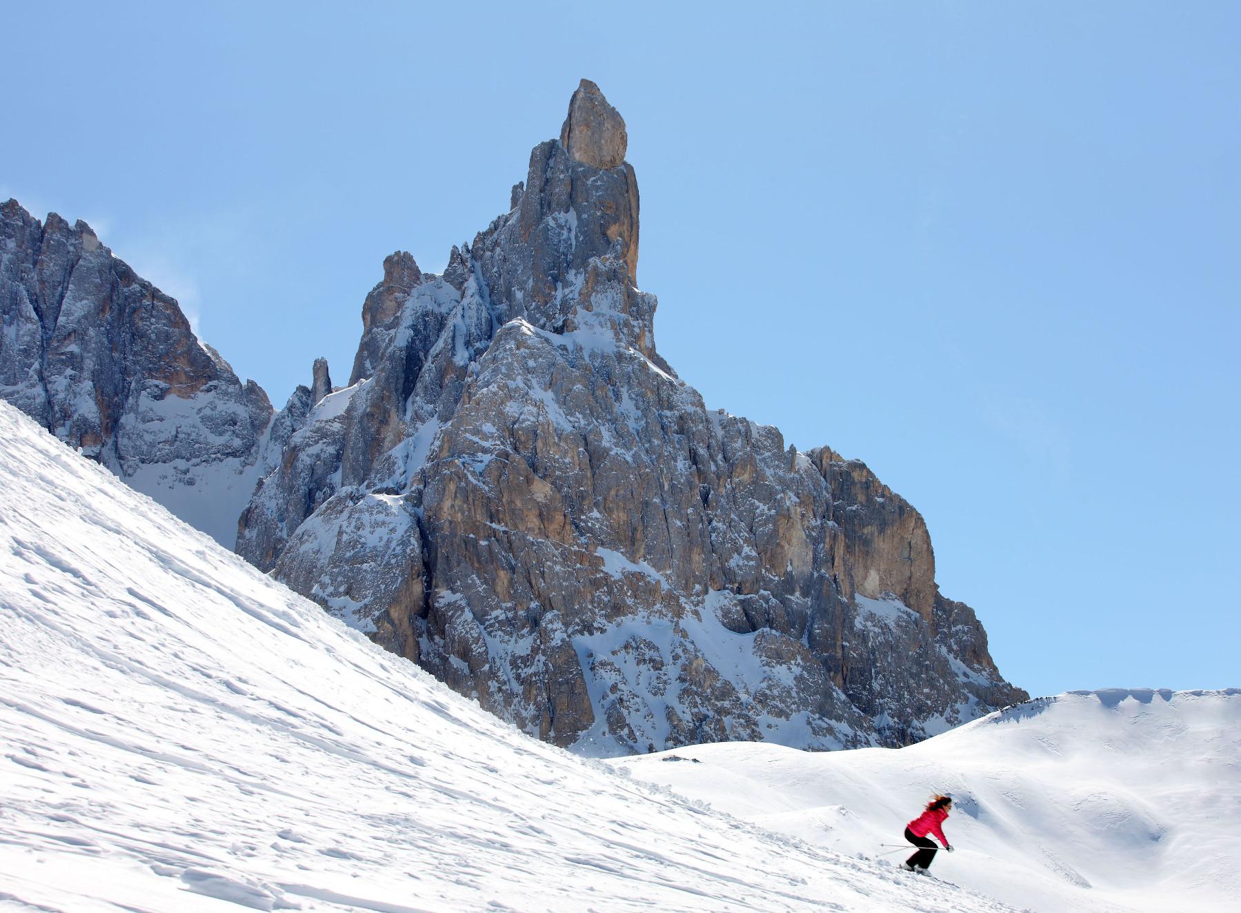 Sciare a Passo Rolle Trentino